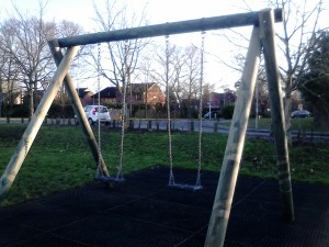 Our beautiful new swings